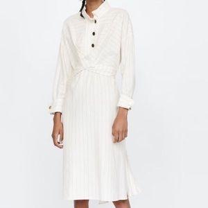 Zara linen blend dress wrap tie, size Large